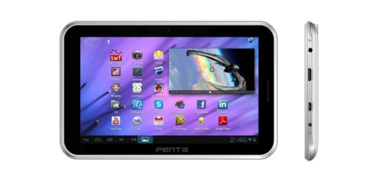 Pantel Penta WS708C 7″ tablet features 2 SIM slots, Android v4.1 selling for Rs 6,999