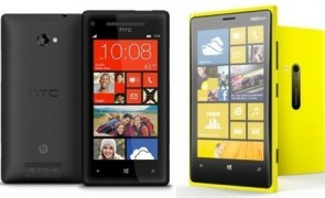 HTC Windows Phone 8X and Nokia Lumia 920